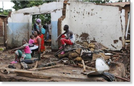 House destroyed and family displaced by rain of terror