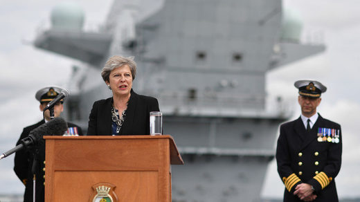 UK's brand new £3.1bn aircraft carrier has sprung a leak HMS Queen Elizabeth