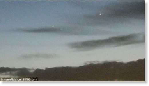 An engineer has captured a video of seemingly strange lights above Sheffield