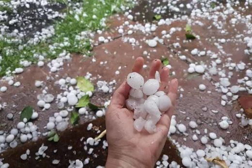 Melbourne experienced large hail