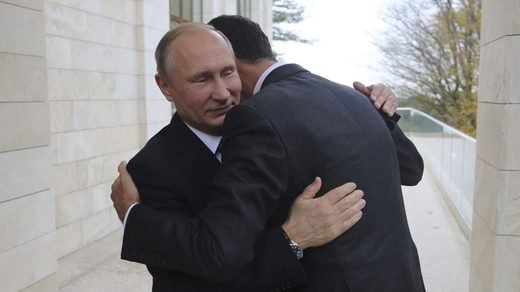 Putin Assad huge photo