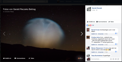Austria: Strange funnel-shaped luminescent cloud visible for 15 minutes in night sky
