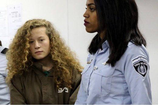 Ahed Tamimi Palestinian teenager girl Israeli prison