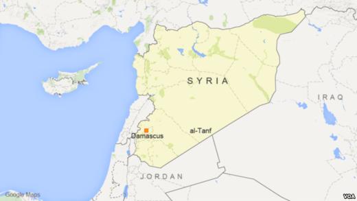 Syria map Al-Tanf