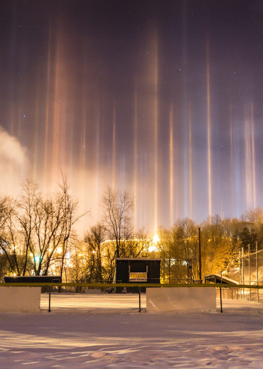light pillars new hampshire Dec 2017