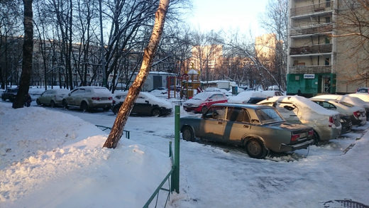 Moscow parking suburbs