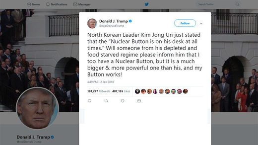 Twitter cites Trump's 'World Leader' status for not banning him over nuke tweet