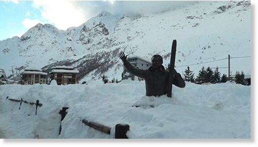 The Italian resort of Cervinia had two metres of fresh snow.