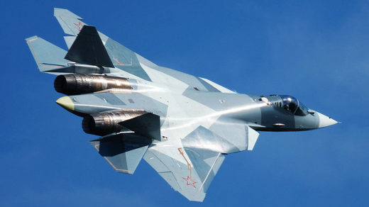 Russia's fifth generation Sukhoi Su-57 fighter jet
