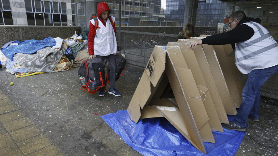 Part Of The Solution Brussels Homeless Receive Portable