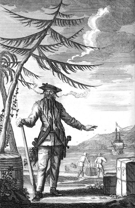 Blackbeard, a notorious 18th century pirate.