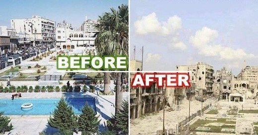 syria before and after war