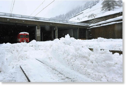The snow has blocked all roads and the train leading to the resort in the southern Swiss canton of Valais, which was also hit by some power outages