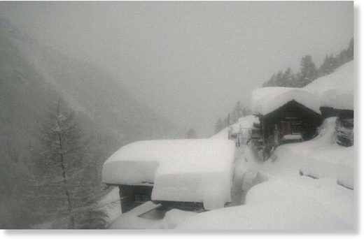 A webcam showing the snow-covered resort