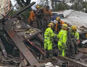 California mudslide rescue