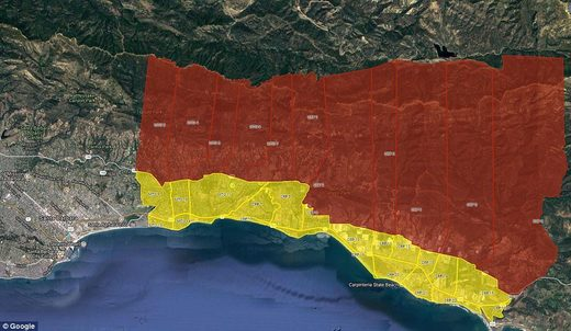 california mudslide evacuation zone