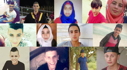 Palestinian children killed Israel 2017