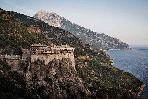 Simonos Petras Monastery, Mount Athos, spiritual capitol of Orthodox Monasticism, Greece