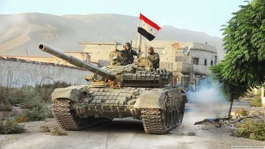 Syrian tank advancing