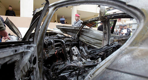 BMW reportedly exploded in a parking lot in the southern Lebanese city of Sidon