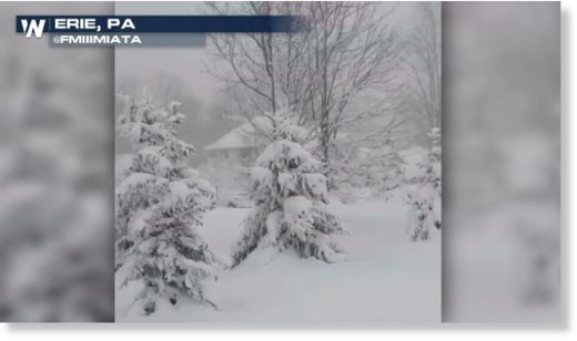 Erie, PA on pace for snowiest season