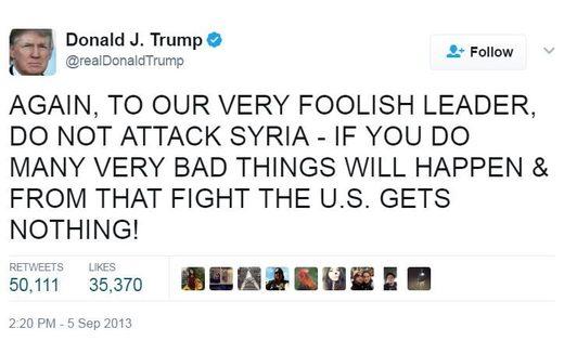trump syria tweet 2013