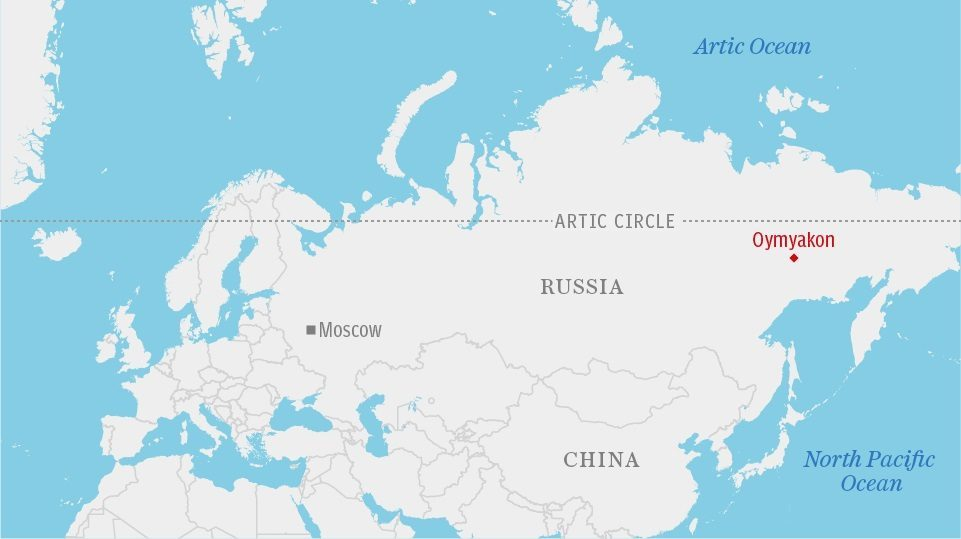 Where Is Siberia On A World Map.Oymyakon Siberia Thermometer Breaks In World S Coldest Village As