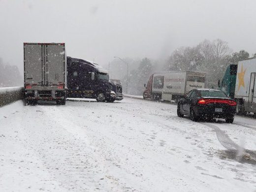 500 collisions occur amid disruptive snowstorm in North Carolina