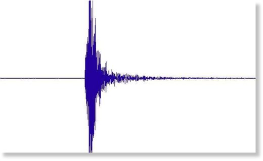 Seismogram as recorded in the scientific station at Raoul Island