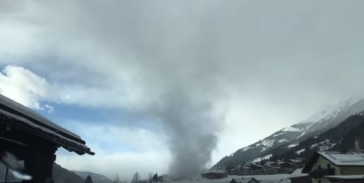 ''Gustnado' touches down in Stall in Mölltal, Austria