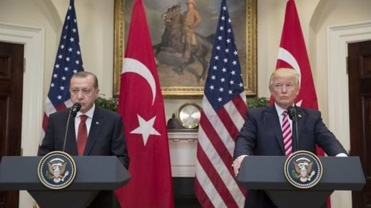 Turkish President Recep Tayyip Erdogan and US President Donald Trump
