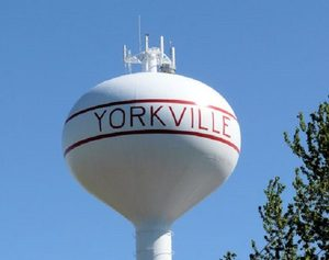 Yorkville, IL water tower