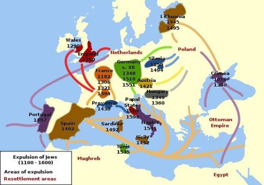expulsion of jews europe