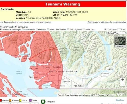 tsnumai warning Alaska 2018 january