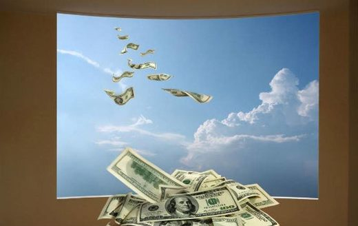 raining money cash