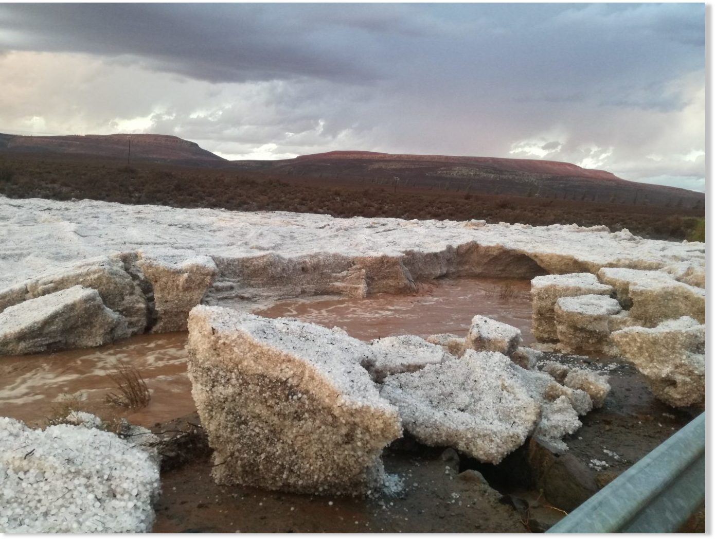 River of hail filmed in Sutherland, South Africa -- Earth ...
