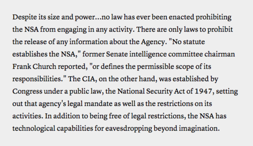 NSA SID today over classification doc