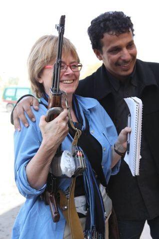 Agnes Gruda in Libya