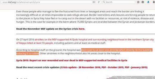 MSF statement