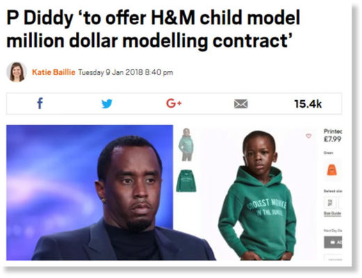 P Diddy modelling contract