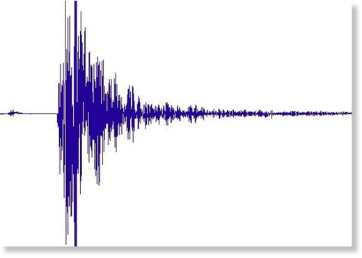 Seismogram of the earthquake as recorded in Lorengau on Manus island