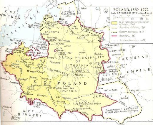 Poland 1569-1772 map