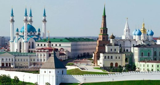 The Kazan Kremlin - where Orthodox Churches and a Mosque stand side by side
