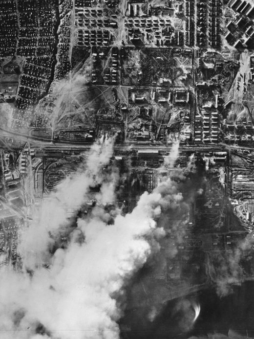 The German Wehrmacht perfoms an air strike on Stalingrad