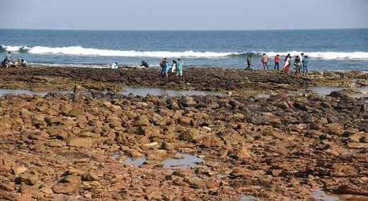 Rushikonda beach recedes in India