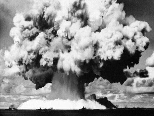 Nuclear mushroom over Bikini atoll