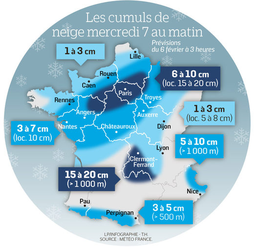 snow map france