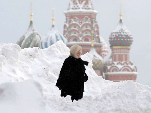 Record snowfall in Moscow Feb 2018