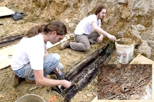 Unearthing coffins