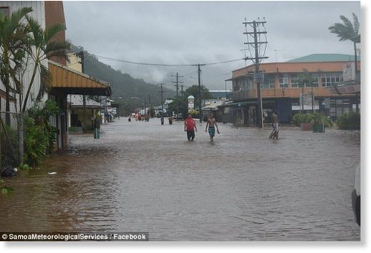 Residents in Samoa have been urged to stay safe by avoiding flooded roads and rivers